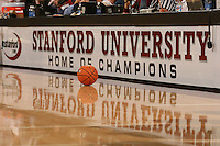 23 February 2006: Balls during Stanford's 100-69 win over the Washington Huskies at Maples Pavilion in Stanford, CA.