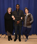"""Rosie O'Donnell, Norm Lewis and Jessie Mueller during """"The Music Man"""" Media Day Rehearsal at the New 42nd Street Studios on January 24, 2019 in New York City."""