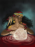 Illustrative image of fortune teller with crystal ball