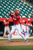 Christian Ortiz (15) during the Dominican Prospect League Elite Underclass International Series, powered by Baseball Factory, on August 1, 2017 at Silver Cross Field in Joliet, Illinois.  (Mike Janes/Four Seam Images)