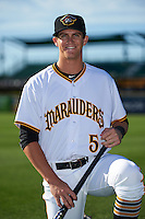 Bradenton Marauders shortstop Kevin Newman (5) poses for a photo before a game against the Fort Myers Miracle on April 9, 2016 at McKechnie Field in Bradenton, Florida.  Fort Myers defeated Bradenton 5-1.  (Mike Janes/Four Seam Images)