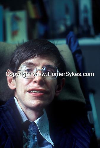 Professor Stephen Hawking 1981 Cambridge UK 1980s