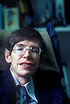 Professor Stephen Hawking 1981 Cambridge UK 1980s