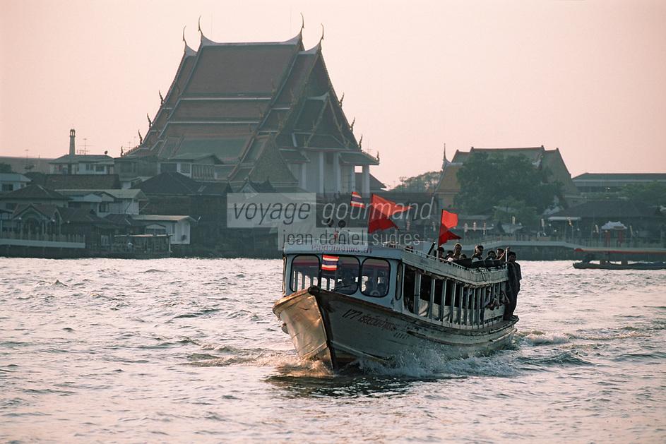 Thaïlande/Bangkok: Navigation sur le Chao Phraya