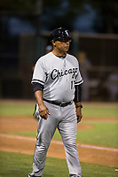 AZL White Sox coach Jerry Hairston (17) during an Arizona League game against the AZL Dodgers at Camelback Ranch on July 7, 2018 in Glendale, Arizona. The AZL Dodgers defeated the AZL White Sox by a score of 10-5. (Zachary Lucy/Four Seam Images)