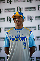 William Chamberlain (7) of Mater Dei Catholic High School in San Diego, California during the Baseball Factory All-America Pre-Season Tournament, powered by Under Armour, on January 12, 2018 at Sloan Park Complex in Mesa, Arizona.  (Zachary Lucy/Four Seam Images)