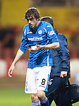Partick Thistle v St Johnstone…23.02.16   SPFL   Firhill, Glasgow<br />Murray Davidson goes off injured<br />Picture by Graeme Hart.<br />Copyright Perthshire Picture Agency<br />Tel: 01738 623350  Mobile: 07990 594431
