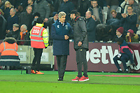 West Ham Manager Manuel Pellegrini  and Liverpool manager Jurgen Klopp during West Ham United vs Liverpool, Premier League Football at The London Stadium on 4th February 2019
