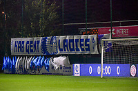 illustration picture flags and banner KAA Gent Ladies before a female soccer game between AA Gent Ladies and SV Zulte-Waregem on the fifth matchday in the 2021 - 2022 season of Belgian Scooore Womens Super League , friday 1 October 2021  in Oostakker , Belgium . PHOTO SPORTPIX | STIJN AUDOOREN