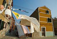 - il paese di Pellestrina, sull'isola che separa la laguna di Venezia dal mare....- the Pellestrina village, on the island that separates the lagoon of Venice from the sea Italia