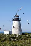 Bird Island Light, Bird Island, Marion, Massachusetts, Buzzards Bay, Cape Cod, vertical.