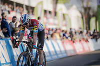Bob JUNGELS (LUX/Deceuninck-Quick Step) crossing the finish line in 5th position<br /> <br /> 62nd E3 BinckBank Classic (Harelbeke) 2019 <br /> One day race (1.UWT) from Harelbeke to Harelbeke (204km)<br /> <br /> ©kramon
