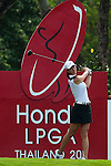CHON BURI, THAILAND - FEBRUARY 17:  Michelle Wie of USA tees off on the 17th hole during day one of the LPGA Thailand at Siam Country Club on February 17, 2011 in Chon Buri, Thailand. Photo by Victor Fraile / The Power of Sport Images