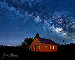 Clear Creek Church under The Milky Way.  This historic structure, southeast of Camp Verde, Arizona, was built between 1898 and 1903.  It was Camp Verde's only church until 1913, when it became the city's one-room schoolhouse.  It was abandoned in 1946, but has been maintained by the Camp Verde Historical Society in more recent years.<br /> <br /> Tech info: Nikon D850 camera with Sigma 20mm lens, 1.0 sec. at f2.8, ISO 4000.<br /> <br /> Image ©2021 James D. Peterson