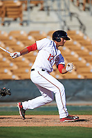 Glendale Desert Dogs Drew Ward (17), of the Washington Nationals organization, during a game against the Mesa Solar Sox on October 20, 2016 at Camelback Ranch in Glendale, Arizona.  Glendale defeated Mesa 3-2.  (Mike Janes/Four Seam Images)