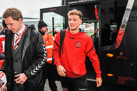 Fleetwood Town's defender Eddie Clarke (3) arriving for the Sky Bet League 1 match between Doncaster Rovers and Fleetwood Town at the Keepmoat Stadium, Doncaster, England on 6 October 2018. Photo by Stephen Buckley / PRiME Media Images.