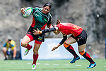 China vs Mexico during the Day 1 of the IRB Women's Sevens Qualifier 2014 at the Skek Kip Mei Stadium on September 12, 2014 in Hong Kong, China. Photo by Aitor Alcalde / Power Sport Images