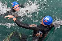 FONTAINE Logan, OLIVIER Marc-Antoine FRA<br /> Team Event 5 km<br /> Open Water<br /> Budapest  - Hungary  15/5/2021<br /> Lupa Lake<br /> XXXV LEN European Aquatic Championships<br /> Photo Andrea Staccioli / Deepbluemedia / Insidefoto
