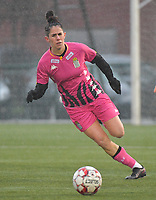 Ylenia Carabott (7) of Sporting Charleroi  pictured during a female soccer game between SV Zulte - Waregem and Sporting Charleroi on the eleventh matchday of the 2020 - 2021 season of Belgian Scooore Womens Super League , saturday 23 th of January 2021  in Zulte , Belgium . PHOTO SPORTPIX.BE | SPP | DIRK VUYLSTEKE