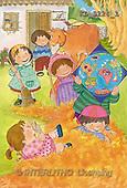 Interlitho, Soledad, CHRISTMAS CHILDREN, naive, paintings, kids world, cow(KL3224/1,#XK#) Weihnachten, Navidad, illustrations, pinturas