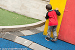 Education preschool outside playground game of hide and seek