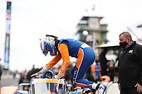 28th May 2021; Indianapolis, Indiana, USA;  NTT Indy Car Series driver Scott Dixon (9) gets in his car during Miller Lite Carb Day as teams prepare for the 105th running of the Indianapolis 500