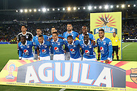 BOGOTA -COLOMBIA, 22-02-2017. Team of Millonarios.Action game beteween  Millonarios  and Tolima  during match for the date 5 of the Aguila League I 2017 played at Nemesio Camacho El Campin stadium . Photo:VizzorImage / Felipe Caicedo  / Staff
