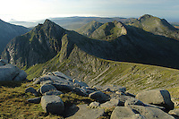 Cir Mhor, A Chir and Beinn Tarsuinn from the summit of Caisteal Abhail on the Isle of Arran, Ayrshire<br /> <br /> Copyright www.scottishhorizons.co.uk/Keith Fergus 2011 All Rights Reserved