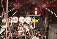 Oct 11, 2019; Concord, NC, USA; NHRA funny car driver J.R. Todd during qualifying for the Carolina Nationals at zMax Dragway. Mandatory Credit: Mark J. Rebilas-USA TODAY Sports