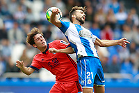 Deportivo de la Coruna's Bruno Gama (r) and Real Sociedad's Alvaro Odriozola during La Liga match. September 10,2017.  *** Local Caption *** © pixathlon<br /> Contact: +49-40-22 63 02 60 , info@pixathlon.de