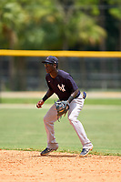 FCL Yankees second baseman Sincere Smith (24) during a game against the FCL Tigers West on July 31, 2021 at Tigertown in Lakeland, Florida.  (Mike Janes/Four Seam Images)