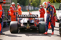 VERSTAPPEN Max (ned), Red Bull Racing Honda RB16B, portrait after mechanical issue on track during the Formula 1 Pirelli Gran Premio Del Made In Italy E Dell emilia Romagna 2021 from April 16 to 18, 2021 on the Autodromo Internazionale Enzo e Dino Ferrari, in Imola, Italy - <br /> Formula 1 Gran Premio Del Made In Italy E Dell Emilia Romagna 2021  16/04/2021<br /> Photo DPPI/Panoramic/Insidefoto <br /> ITALY ONLY