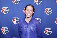 INDIANAPOLIS, IN - January 18, 2013: FC Kansas City payer Lauren Cheney. The National Women's Soccer League held its college draft at the Indiana Convention Center in Indianapolis, Indiana during the NSCAA Annual Convention.