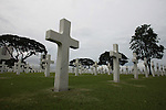 The American War Cemetery and Memorial in Manila, Philippines contains the graves of 17,206 servicemen who lost their lives in World War II. It is the largest U.S. war cemetery in the Pacific, and also includes the graves of 570 Filipino soldiers, along with those from a handful of other allied nations. Most of those buried here were killed during the Philippines and New Guinea campaigns. June 10, 2011.