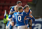 St Johnstone v Hearts…10.08.16..  McDiarmid Park…BetFred Cup<br />Brad McKay celebrates his goal<br />Picture by Graeme Hart.<br />Copyright Perthshire Picture Agency<br />Tel: 01738 623350  Mobile: 07990 594431