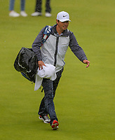 170719 | The 148th Open - Wednesday Practice<br /> <br /> Rory McIlroy's caddie Harry Diamond of Northern Ireland on the 18th during practice for the 148th Open Championship at Royal Portrush Golf Club, County Antrim, Northern Ireland. Photo by John Dickson - DICKSONDIGITAL