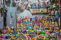 Suzhou, Jiangsu, China.  Children's Toys and Souvenirs for Sale, Shantang Street.