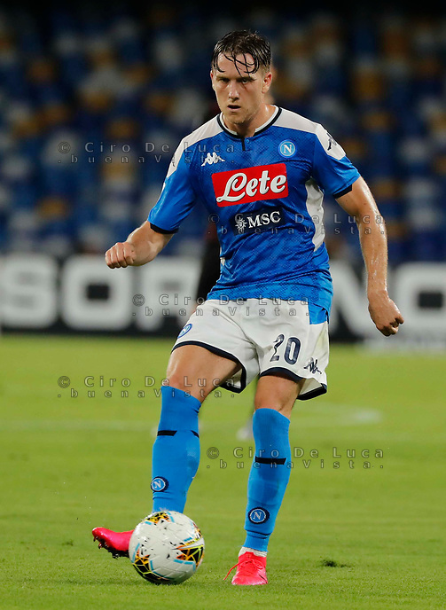 Piotr Zielinski of Napoli  during the  italian serie a soccer match,  SSC Napoli - AC Milan       at  the San  Paolo   stadium in Naples  Italy , July 12, 2020