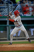 Auburn Doubledays Jack Dunn (1) at bat during a NY-Penn League game against the Batavia Muckdogs on August 31, 2019 at Dwyer Stadium in Batavia, New York.  Auburn defeated Batavia 12-5.  (Mike Janes/Four Seam Images)