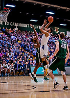 19 January 2019: University of Vermont Catamount Forward Anthony Lamb, a Junior from Toronto, Ontario, in second half Men's Basketball action against the Binghamton University Bearcats at Patrick Gymnasium in Burlington, Vermont. The Catamounts defeated the Bearcats 78-50 to remain unbeaten in conference play to date this season. Mandatory Credit: Ed Wolfstein Photo *** RAW (NEF) Image File Available ***