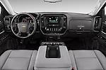 Stock photo of straight dashboard view of 2016 Chevrolet Silverado 1500 LS 4 Door Pickup Dashboard