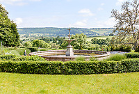 BNPS.co.uk (01202) 558833. <br /> Pic: Strutt&Parker/BNPS<br /> <br /> Pictured: Garden views. <br /> <br /> A grand Georgian manor where writer Evelyn Waugh lived and died is on the market for £5.5m.<br /> <br /> The author of Vile Bodies, Brideshead Revisited and Sword of Honour bought Combe Florey House in Somerset in 1956 and his family lived there until 2008 when they sold it to the current owners.<br /> <br /> In Waugh's day the house was often filled with his glamorous and clever guests like poet John Betjeman, actors Peter Cook and Alec Guinness and writers Salman Rushdie and Muriel Spark.<br /> <br /> The 12-bedroom house has had a makeover since Waugh's day and quirky style and is now a light-filled spacious family home with a party barn, swimming pool and 34 acres.