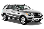 Passenger sider front three quarter view of a 2013 Mercedes-Benz M-Class ML350 4MATIC ..
