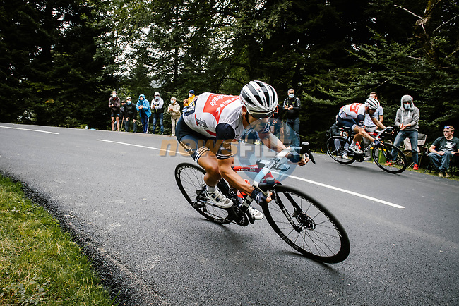 Richie Porte (AUS) Trek-Segafredo descends during Stage 9 of Tour de France 2020, running 153km from Pau to Laruns, France. 6th September 2020. <br /> Picture: ASO/Pauline Ballet | Cyclefile<br /> All photos usage must carry mandatory copyright credit (© Cyclefile | ASO/Pauline Ballet)