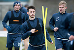 St Johnstone Training…30.03.18<br />Scott Tanser pictured during training this morning at McDiarmid Park ahed of tomorrows game at Aberdeen<br />Picture by Graeme Hart.<br />Copyright Perthshire Picture Agency<br />Tel: 01738 623350  Mobile: 07990 594431