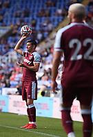 21st July 2021; Madejski Stadium, Reading, Berkshire, England; Pre Season Friendly Football, Reading versus West Ham United; Aaron Cresswell of West Ham considers his options
