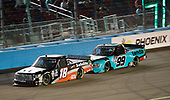 #18: Christian Eckes, Kyle Busch Motorsports, Toyota Tundra Safelite AutoGlass, #99: Ben Rhodes, ThorSport Racing, Ford F-150 Tenda Heal