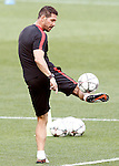 Atletico de Madrid's coach Diego Pablo Cholo Simeone during Champions League 2015/2016 training session. May 27,2016. (ALTERPHOTOS/Acero)