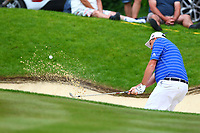 Anthony Wall chips out of a bunker on the 4th green during the BMW PGA Golf Championship at Wentworth Golf Course, Wentworth Drive, Virginia Water, England on 27 May 2017. Photo by Steve McCarthy/PRiME Media Images.