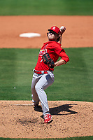 St. Louis Cardinals pitcher Thomas Parsons (74) during a Major League Spring Training game against the New York Mets on March 19, 2021 at Clover Park in St. Lucie, Florida.  (Mike Janes/Four Seam Images)
